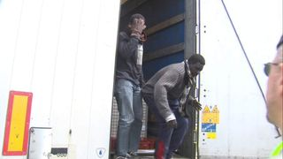 Migrants Found In Back Of Lorry In Calais