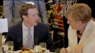 Mark Zuckerberg had a chat with German Chancellor Angela Merkel during the event