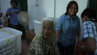 Zin Mar Aung and grandmother