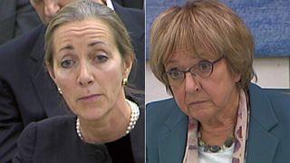 Rona Fairhead (L) and Margaret Hodge MP