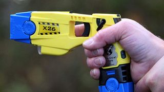 Taser stun gun demonstration