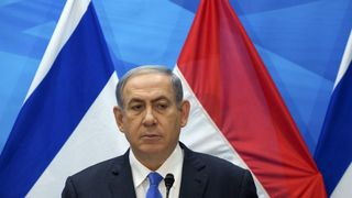 Israel's Prime Minister Netanyahu delivers a statement in Jerusalem