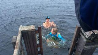 Ice swimming in Murmansk