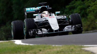 Hamilton fastest in P1
