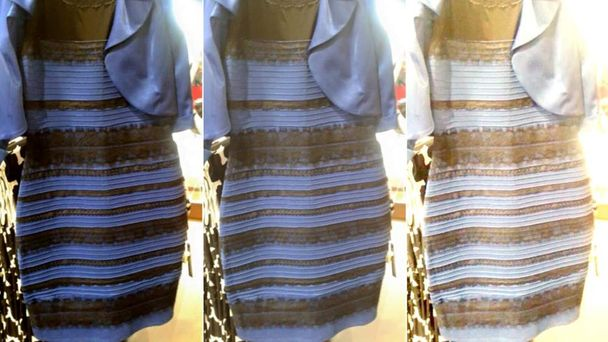 Two color dress viral picture