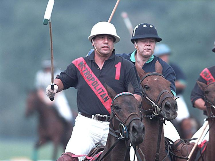 Paul Castle Playing Polo At Guards Club. Pic Mike Forster