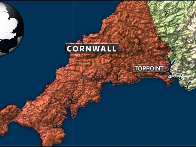 Map of Torpoint, Cornwall