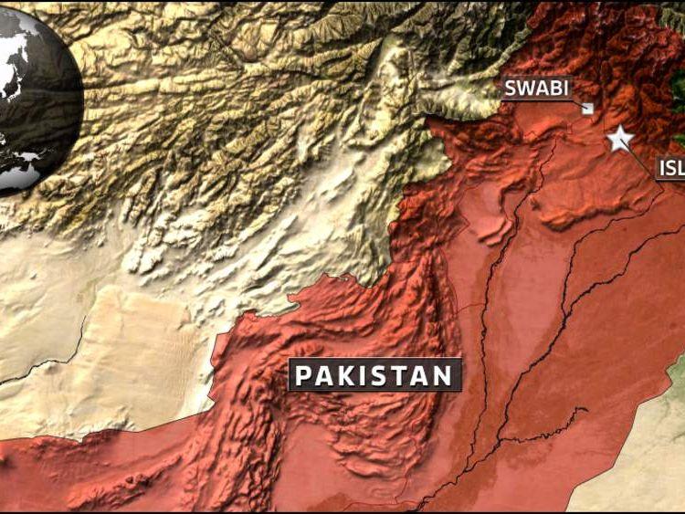 Map of Swabi in Pakistan