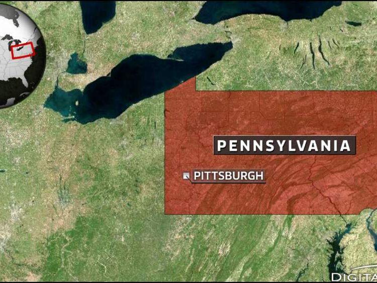 Map of Pittsburgh, Pennsylvania