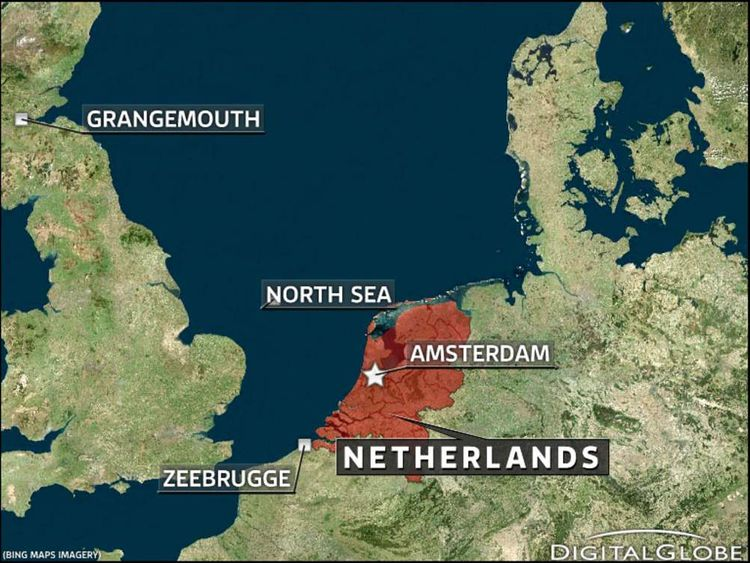 North Sea Ships Collide Off Coast Of Netherlands