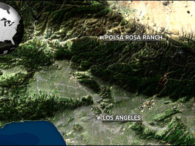 Helicopter crash near Los Angeles Polsa Rosa Ranch