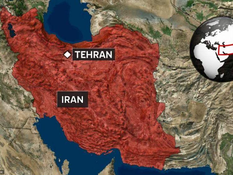 A map of Tehran in Iran
