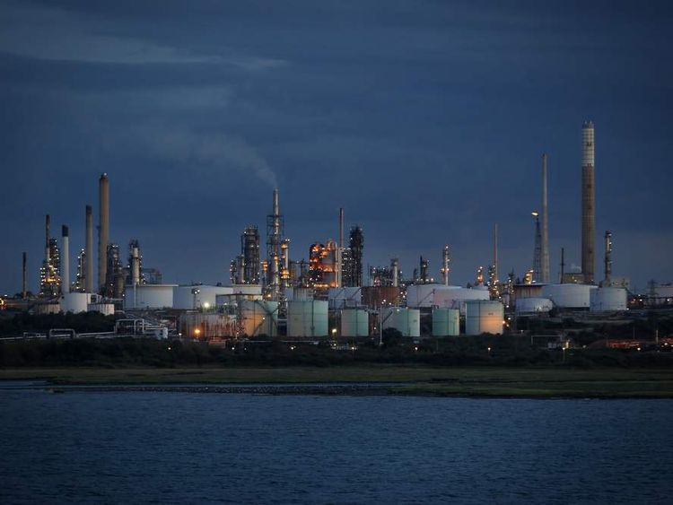 General View Of Fawley Oil Refinery