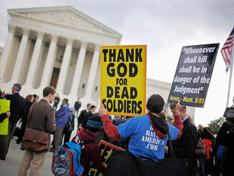 Supreme Court Hears First Amendment Case On Protests At Military Funerals