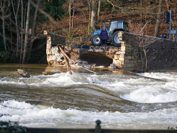 Storm floods damage