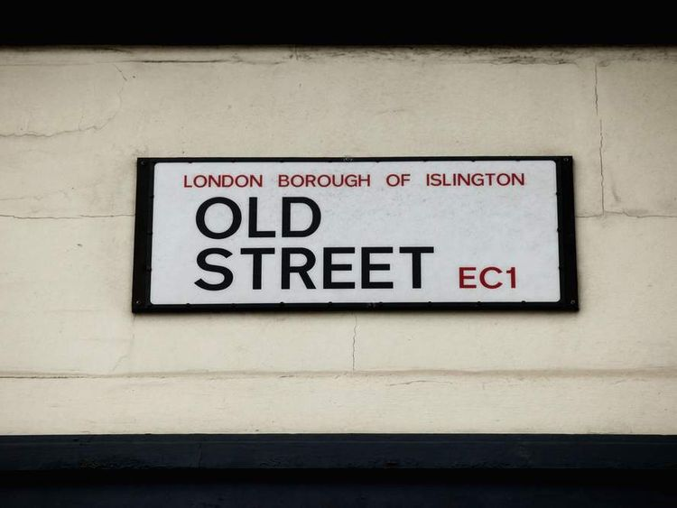 The Old Street road name sign