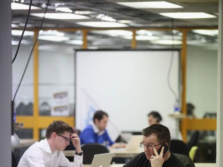 Workers at Silicon Roundabout