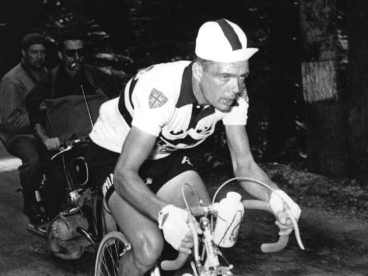 Brian Robinson in the 1959 Tour de France