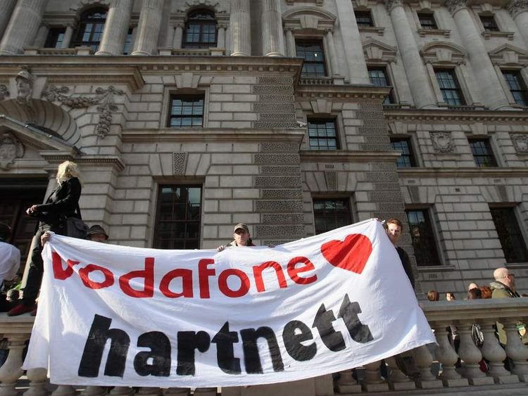 UK Uncut And Occupy London Protestors Join Forces To Demonstrate About Corporate Tax