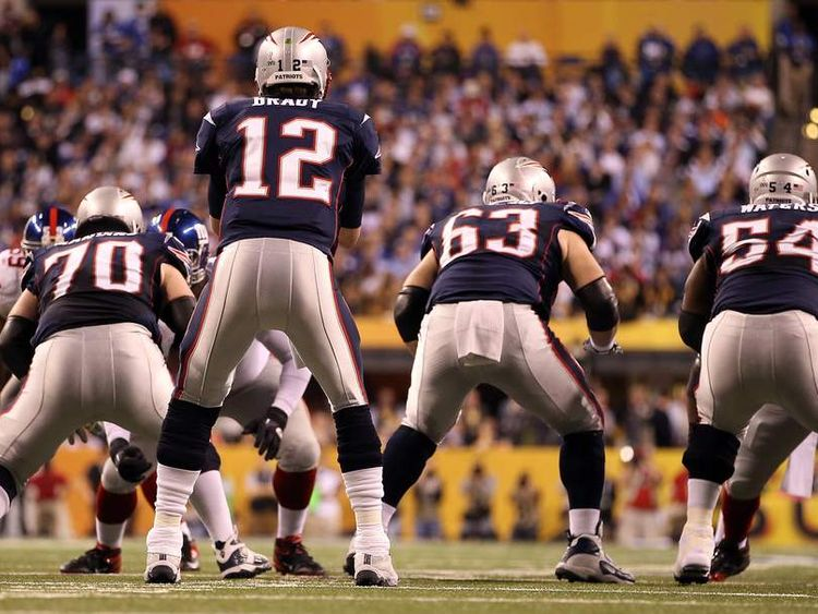 The New York Patriots and the New York Giants in Super Bowl XLVI