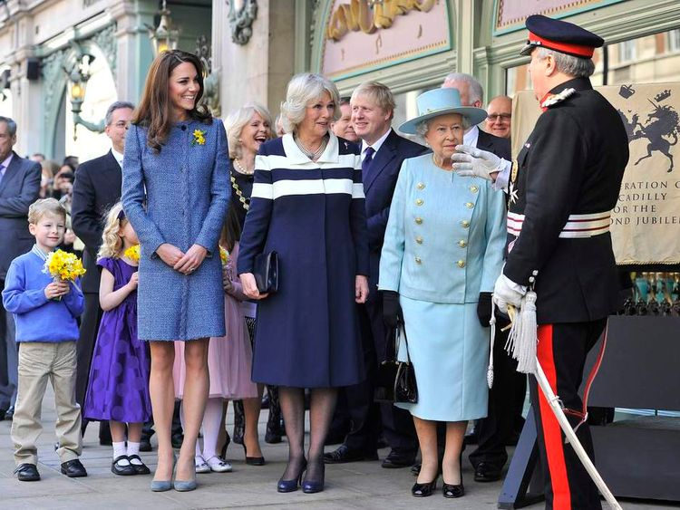 Royal visit to Fortnum & Mason