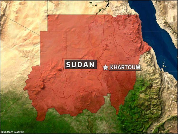 Sudan map showing Khartoum