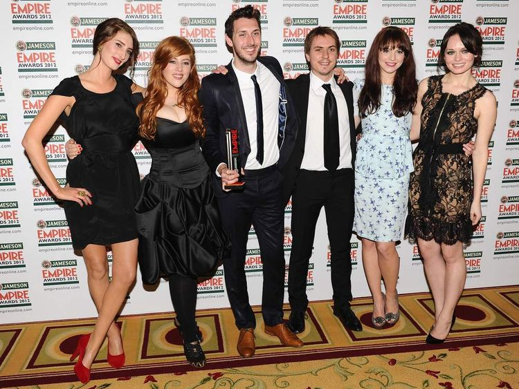 The cast of The Inbetweeners Movie at the Empire Awards in March 2012