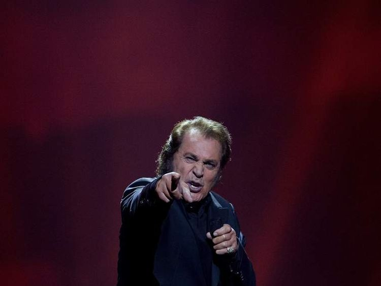 Singer Engelbert Humperdinck of the United Kingdom