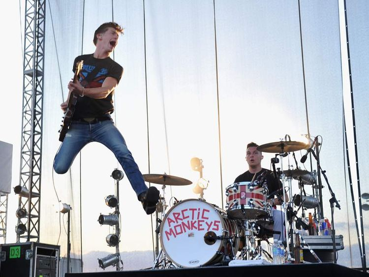 Alex Turner of Artic Monkeys performs during the 2012 Orion Music + More Festival