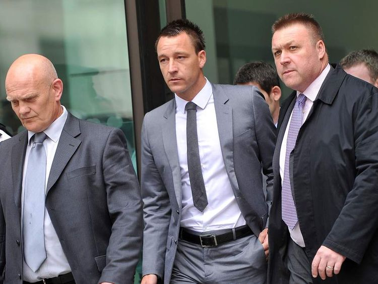 John Terry leaves court after being cleared of racial abuse