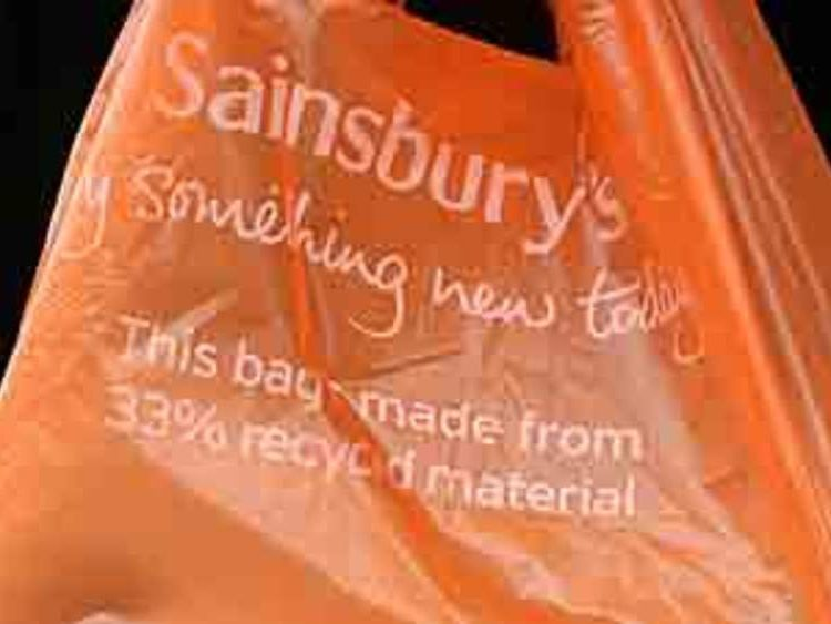 Sainsbury's supermarket plastic bag
