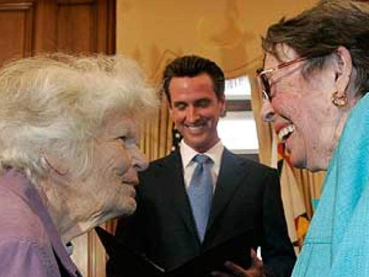 First gay marriage in California US: Del Martin Phyllis Lyon