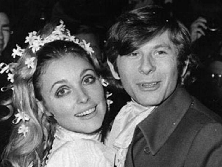 Sharon Tate and Roman Polanski on their wedding day