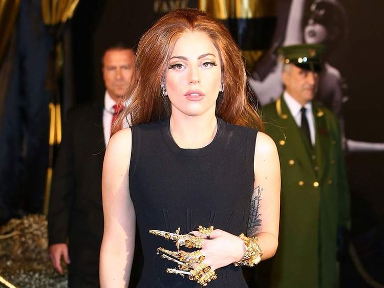 Lady Gaga attends the launch of her new fragrance Fame by Lady Gaga at Harrods