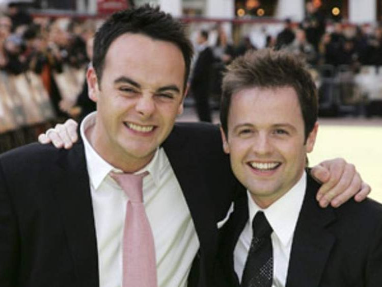 Anthony McPartlin and Declan Donnelly arrive at the World Premiere of 'Alien Autopsy' at Odeon Leicester Square on April 3, 2006 in London, England.