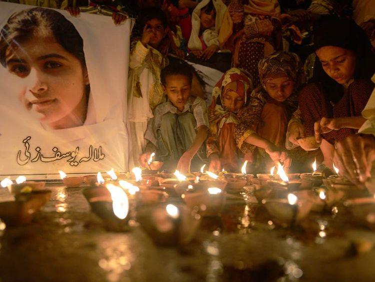 Vigil for Malala Yousafzai