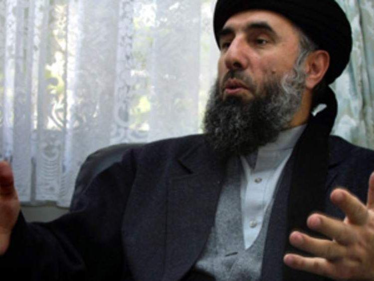 Exiled former Afghan Prime Minister Gulbuddin Hekmatyar in Tehran on Febuary 5, 2002.