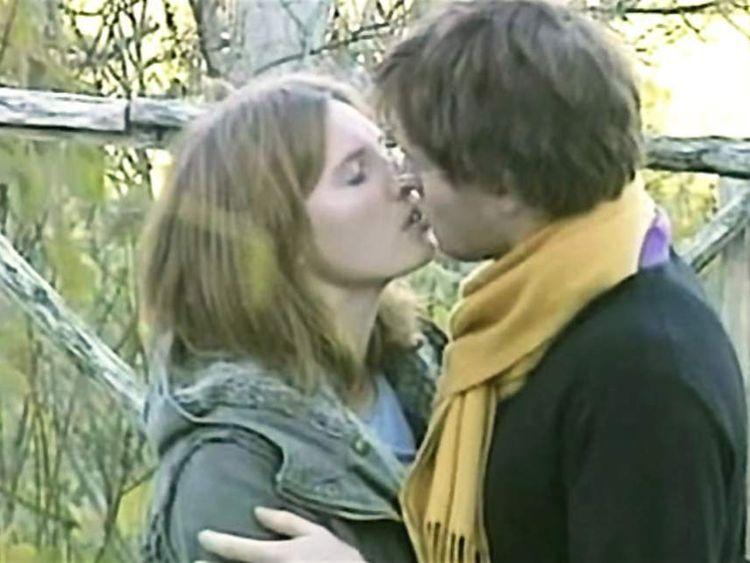 Amanda Knox & Raffaele Sollecito kissing