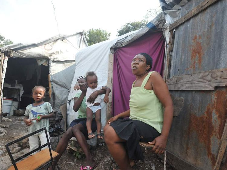 HAITI-WEATHER-STORM-SANDY-TENT CITY