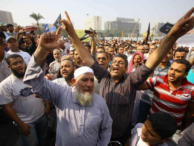 Egyptian Islamists demonstrate in Cairo's Tahrir Square