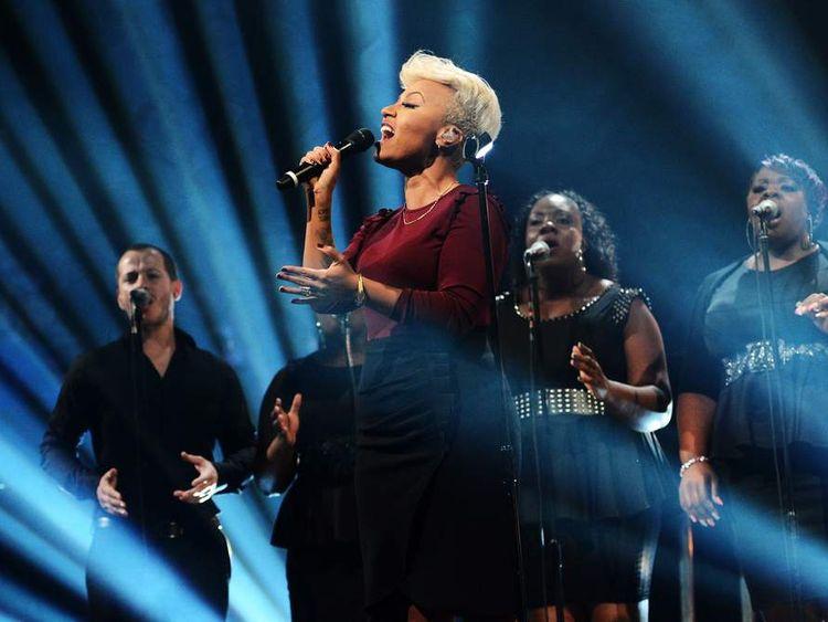 Emeli Sande performs at the MOBO Awards in November 2012