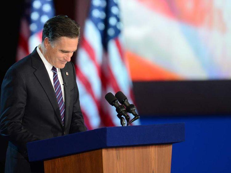 Mitt Romney concedes defeat to Barack Obama