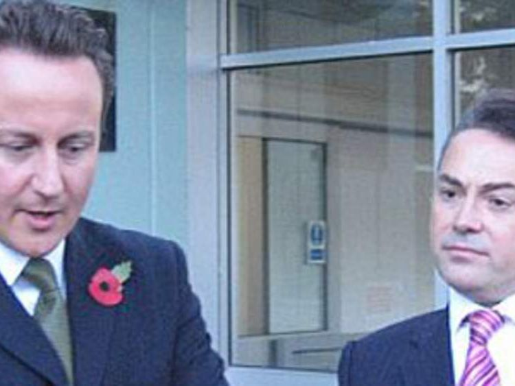 Conservative MP David Ruffley with David Cameron at West Suffolk hospital
