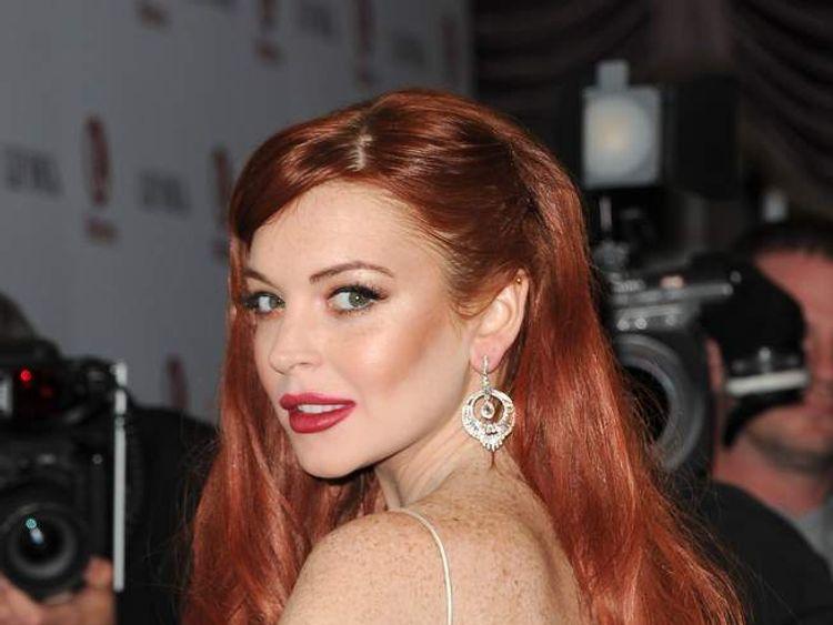 Lindsay Lohan at the premiere of Liz & Dick