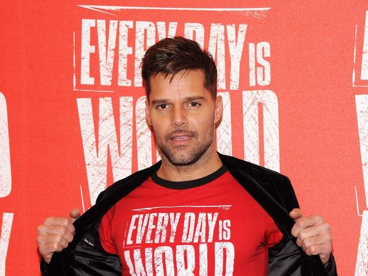 Ricky Martin launches World AIDS Day on November 30, 2012