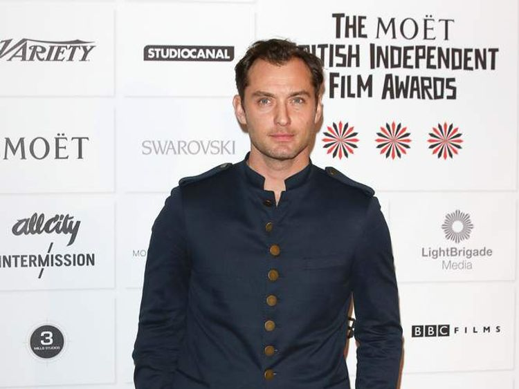 Jude Law at the British Independent Film Awards