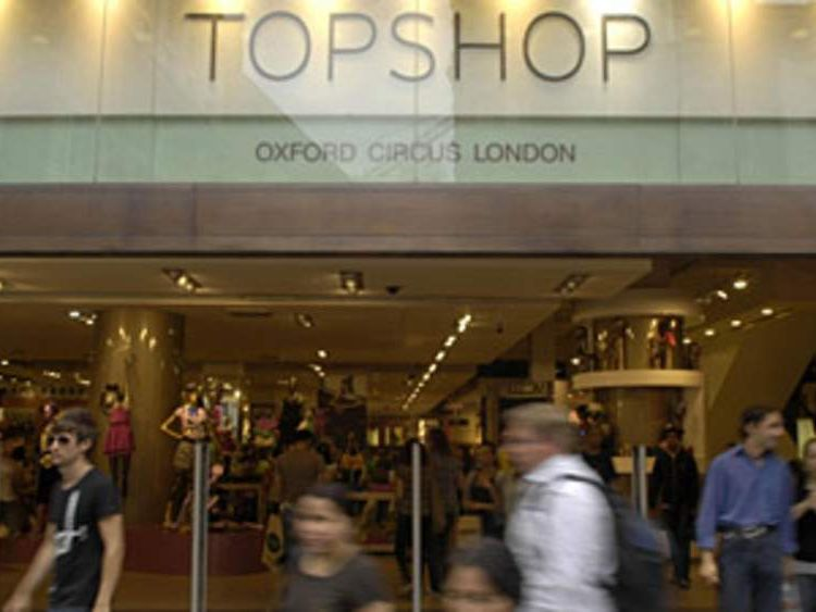 The Topshop store on Oxford Street in London