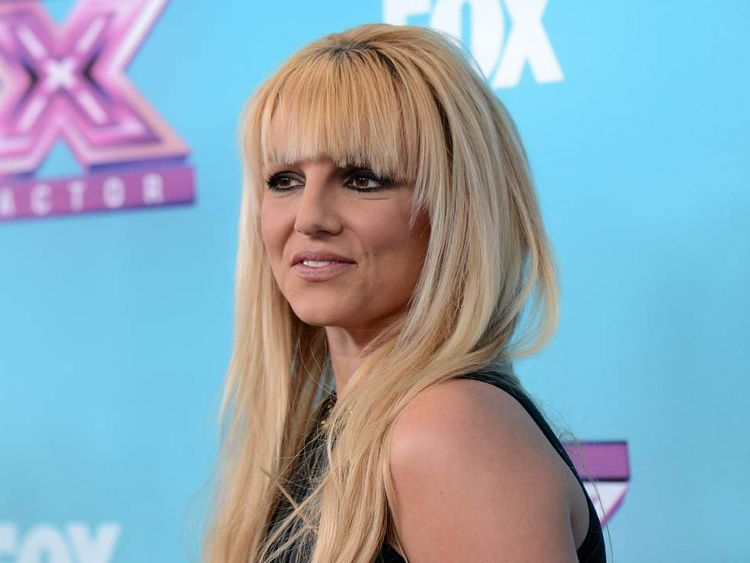 Britney Spears arriving for The X Factor