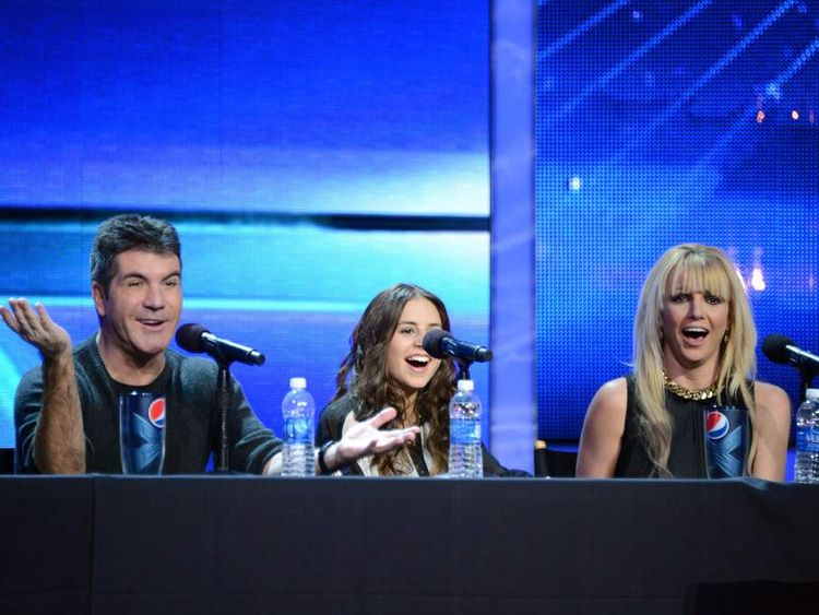 Britney Spears at X Factor news conference