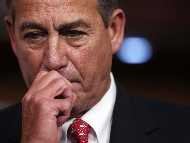 House Speaker John Boehner Addresses The Press On The Ongoing Fiscal Cliff Negotiations